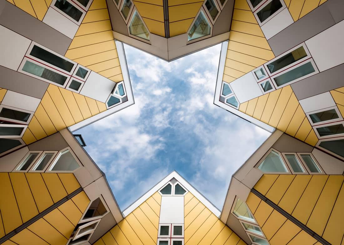 Casas cúbicas estrella Rotterdam Holanda - Países Bajos