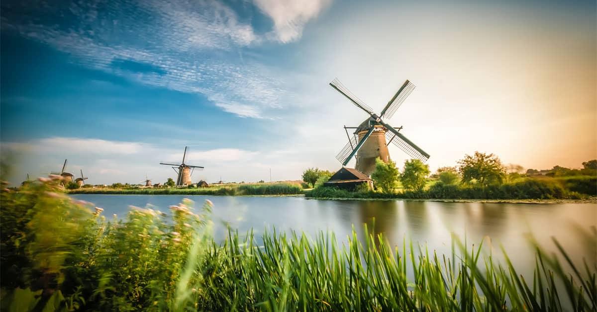 Molinos Kinderdijk Holanda - Países Bajos