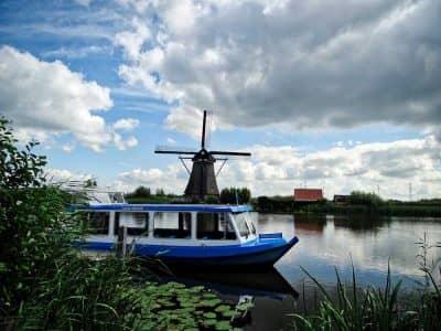 Kinderdijk Molino Barco Holanda - Países Bajos